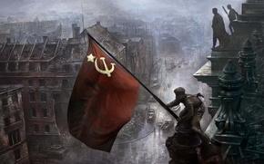 война, день победы, берлин, солдаты