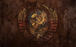 USSR, grunge, coat of arms