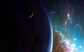 planeta, Estrella, galaxia, satlite