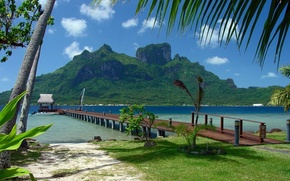 berth, sea, tropics