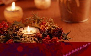 holiday, New Year, Christmas, candle, Jewelry, fire, mood, photo, wallpaper