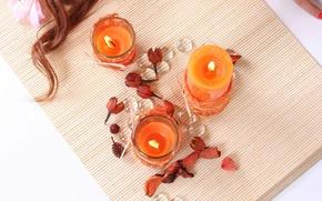 Candles, hair, joy