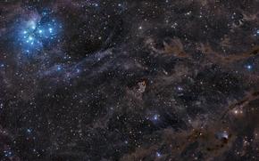 spazio, Pleiadi, Seven Sisters ammasso stellare, Toro, Braccio di Orione, Via Lattea