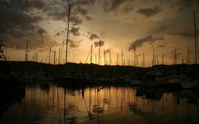 paysage, Bateaux, Port, baie, quai, papier peint