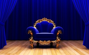 krzeso, Kurtyny, scena