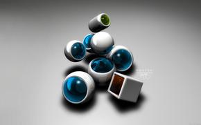 кубики, шарики
