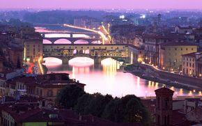 италия, флоренция, мост