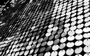 Crculos, en blanco y negro, Macro