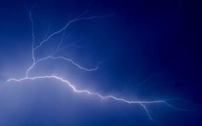 lightning, discharge, sky