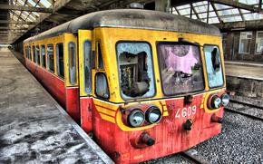 поезд, вокзал, перон, разруха