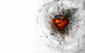 cuore, linea, amore