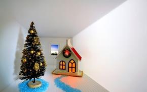 Toys, winter, new year, рождество, room