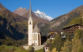 villaggio, Alpi, Austria