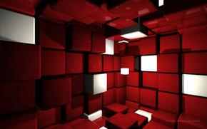 красный, кубики