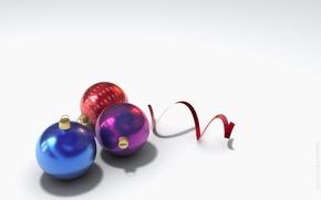 новый год, шарики, серпантин