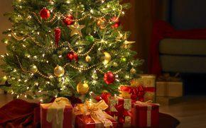 new year, огоньки, Tree