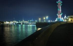 San Petersburgo, Pedro, noche, luces