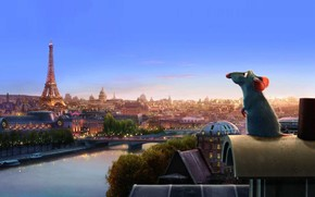 ratatouille, mouse, cartone animato, Parigi