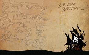 Internet, nave, mappa, pirateria