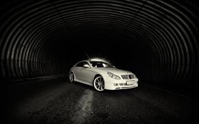 トンネル, 光, 道路, 白