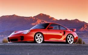 rosso, Montagne, Auto