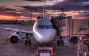 самолет, канада, восход