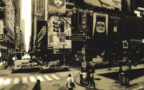 New York, broadway, citt, New York, America, persone, macchinario