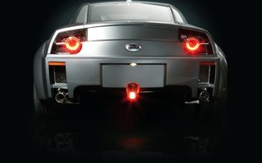 Auto, Beleuchtung, Arsch, dunkel