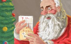 Capodanno, Babbo Natale, lettera