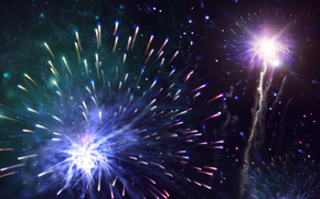 новый год, праздник, салют