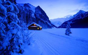 новый год, снег, зима, дом