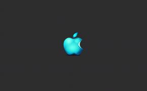 marca, grigio, mela, minimalismo