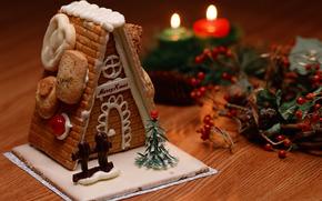 Natal, Ano Novo, Doces, alojamento, Velas