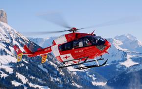 швейцария, вертолет, горы