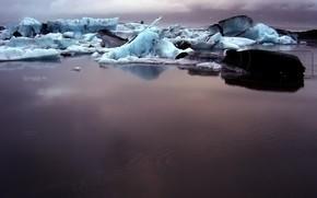 лед, грязь, вода