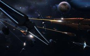statek kosmiczny, Asteroids, wojna, Promienie