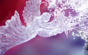 ангел, рождество, новый год, хрусталь
