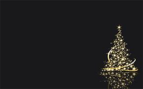 елка, бенгальские, огни, вектор