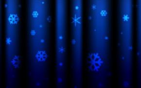 Struttura, Capodanno, Fiocchi di neve, tendaggio, foto, struttura, sfondo, blu, Carta da parati, Natale