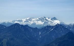 Montagne, neve, ghiacciaio