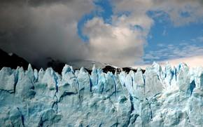 ghiaccio, ghiacciaio, cielo