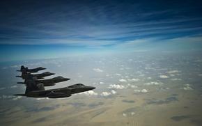 aeronave, combatientes, nebo.oblaka, tierra, Papel pintado