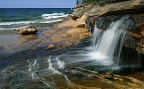 jet, eau, noyaux, cte, mer, flots, surf