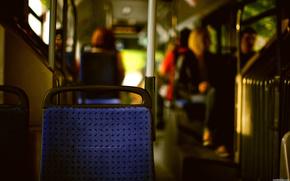 el transporte, personas, sentado, espalda