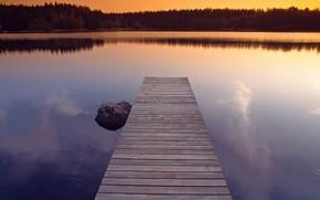 вода, причал, озеро