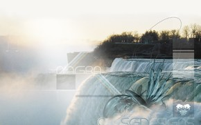 cascata, elaborazione, Cascate del Niagara