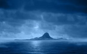 море, гора, небо, вода