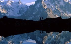 Montaas, lago, paisaje