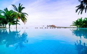piscina, thailand, mare, Relax