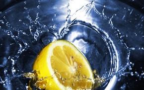 чай, лимон, вода